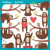 Sloth Clipart, Cute Sloths