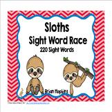Sloths Sight Word Race