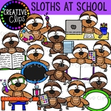 Sloths at School {Creative Clips Clipart}