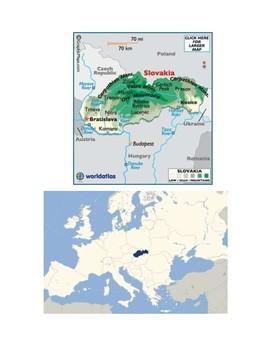 Slovakia Map Scavenger Hunt