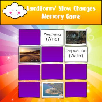 Slow Change Landform Memory Game