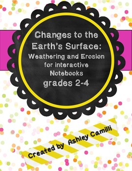 Slow Changes: Weathering and Erosion printables for interactive notebooks