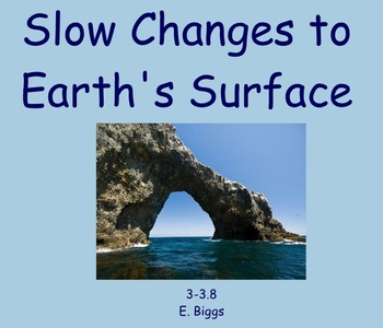 Slow Changes to Earth's Surface - Smartboard Lesson