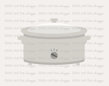 Slow Cooker Clipart; Kitchen, Cooking, Food