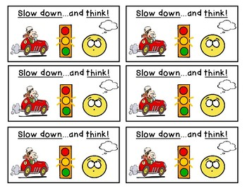 Slow Down and Think Bookmarks