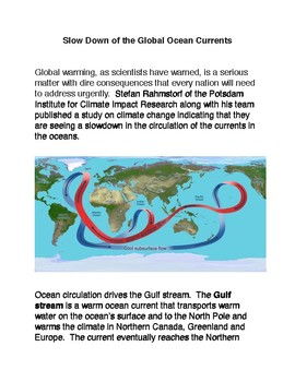 Slow Down of the Global Ocean Currents