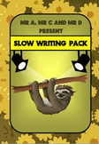 Slow Writing Pack - Mr A, Mr C and Mr D Present