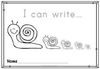 Slow Writing with Pictures for Kindergarten and Lower Elementary