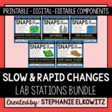 Slow and Rapid Changes to Earth Lab Stations Bundle