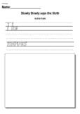 Slowly Slowly said the Sloth by Eric Carle- Writing Response Activity Worksheet