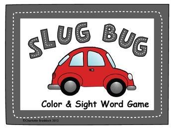 Slug Bug Color and Sight Word Game