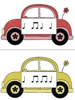 Slug Bug Game: Rhythm, ta ti-ti ta rest & half note