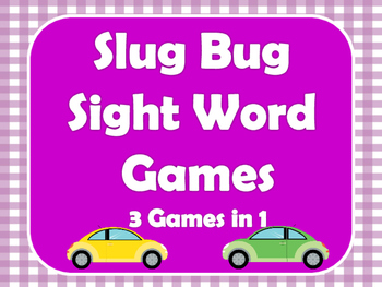 Slug Bug Sight Word Games - 3 Games in 1