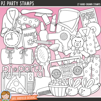 "Slumber Party Clip Art: ""PJ Party"""