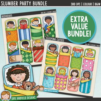 Slumber Party Kids Clip Art Bundle