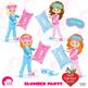 Slumber party clipart , girls sleep over clip art, pyjama