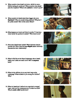 Slumdog Millionaire Film (2008) Study Guide Movie Packet