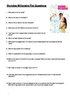 Slumdog millionaire film viewing questions