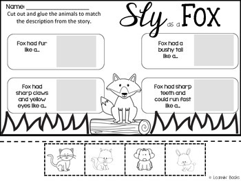 Sly as a Fox {Flossie & the Fox Simile Printables}