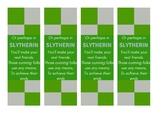 Slytherin Harry Potter House Bookmarks