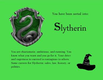 Slytherin House Ticket