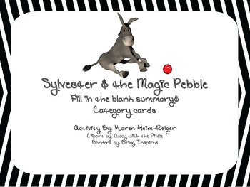 Sylvester and the Magic Pebble Recap Activity and Category Cards