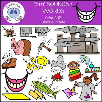 Sm Sounds / Words: Beginning Sounds Clip Art