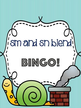 Sm and Sn Blend Bingo [10 playing cards]