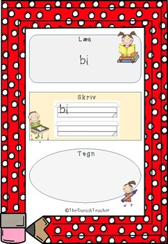 Små lydrette ord 1 - Læs, skriv og tegn