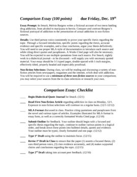 Smack by Melvin Burgess: Comparison Essay 14-page Unit