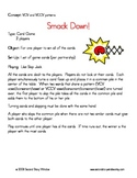 Smackdown Words Their Way Game and Skill Sheet