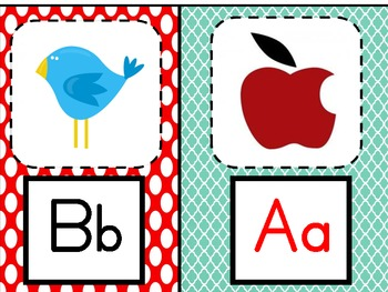 Small ABC posters for word wall or portable sound board