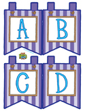 """Purple Small Alphabet Banner Flags (4 on 8.5"""" x 11"""")"""