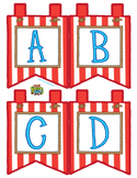 """Red Small Alphabet Banner Flags (4 on 8.5"""" x 11"""")"""