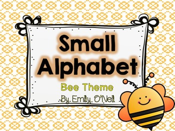 Small Alphabet (Bee Theme)