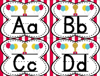 Small Alphabet (Bright Circus Theme)