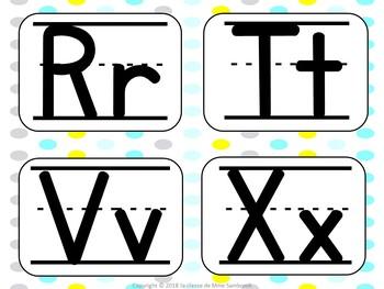FREEBIE I Small Alphabet Cards I alphabet word wall headers