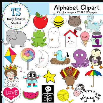 Small Alphabet Clipart Set {Tracy Sztanya Studios}