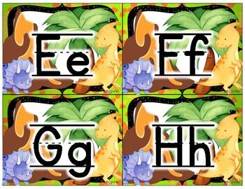 Small Alphabet (Dinosaur Theme)