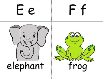 Small Alphabet Poster Cards With Matching Coloring Book