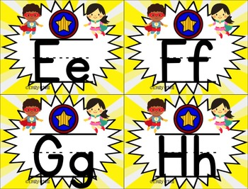 Small Alphabet (Superhero Theme)