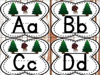 Small Alphabet (Woodland Theme)