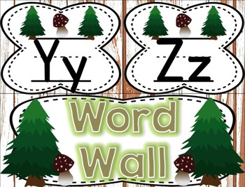Small Alphabet (Woodland Theme)