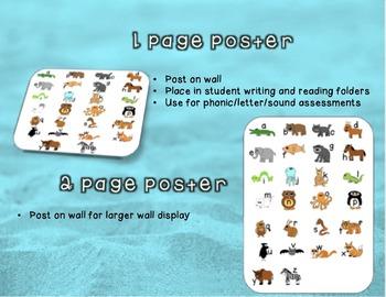 Small Animal Alphabet Poster