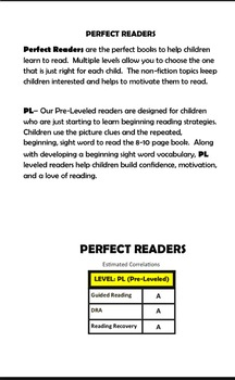 Small Animals (PL) Pre-Leveled, Guided Reading Leveled Book and Running Record