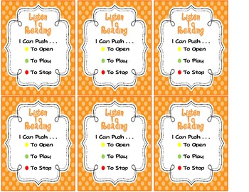 Small Bag Tags for Listen To Reading Freebie