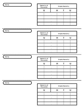 Small Bead Frame Worksheet (Small)