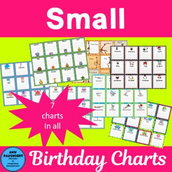Small Birthday Charts