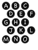 Small Black Circle Letter and Symbol Labels
