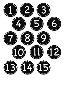 Small Black Circle Number Labels 1- 30 by Teachers ...